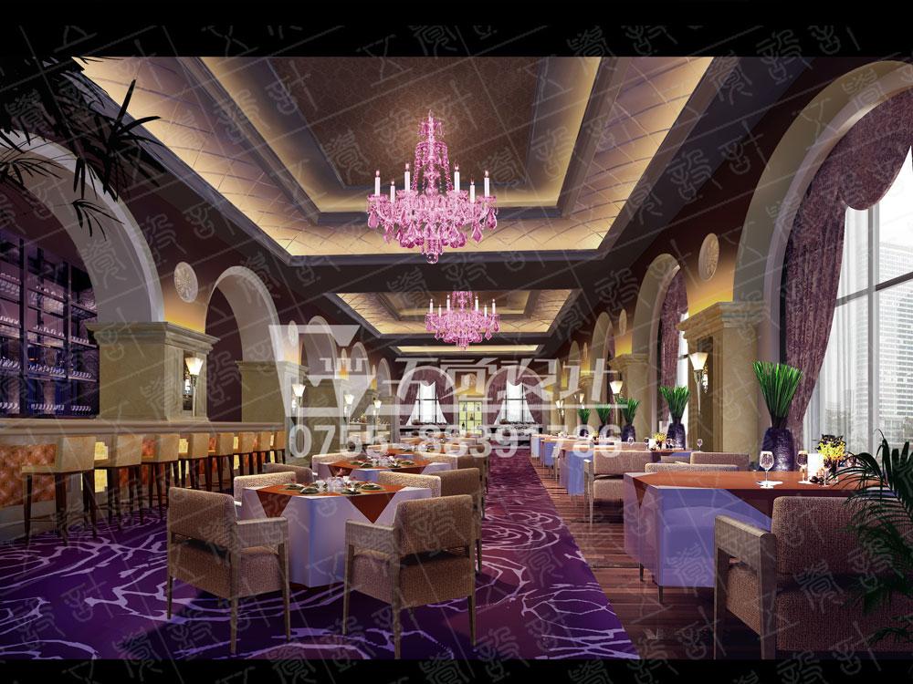 海泉湾西餐厅 设计采用了欧式风格